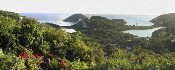St John USVI vacation rental Tesseract expansive ocean views overlook two bays and the Caribbean