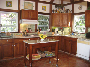 St John Rental Home Tree Tops updated kitchen with granite counter tops and all appliances